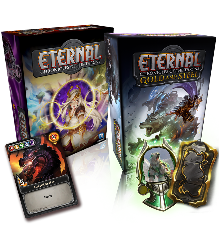Eternal: Chronicles of the Throne Product Shot Pluse Gold and Steel